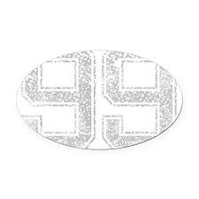99, Grey, Vintage Oval Car Magnet