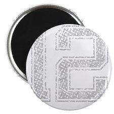 12, Grey, Vintage Magnet