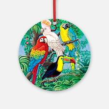 Tropical Birds 37x30 Round Ornament