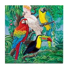Tropical Birds 37x30 Tile Coaster