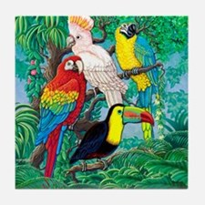 Tropical Birds 37x30 Tile Coaster