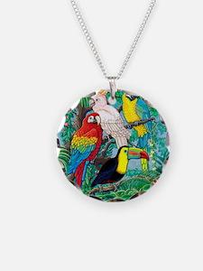 Tropical Birds 37x30 Necklace