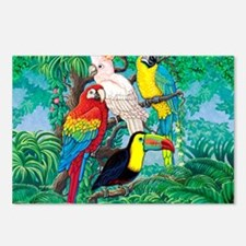 Tropical Birds 37x30 Postcards (Package of 8)