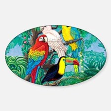 Tropical Birds 37x30 Decal