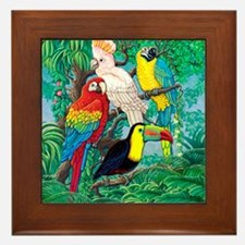 Tropical Birds 37x30 Framed Tile