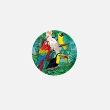 Tropical Birds 37x30 Mini Button