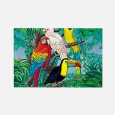 Tropical Birds 37x30 Rectangle Magnet