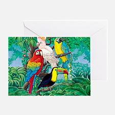 Tropical Birds 37x30 Greeting Card