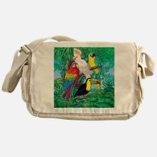 Tropical Birds 37x30 Messenger Bag