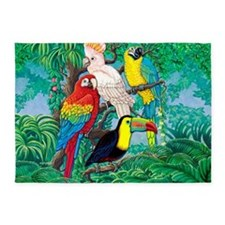 Tropical Birds 37x30 5'x7'Area Rug