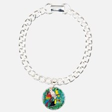 Tropical Birds 37x30 Charm Bracelet, One Charm