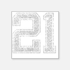 "21, Grey, Vintage Square Sticker 3"" x 3"""