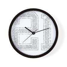 21, Grey, Vintage Wall Clock