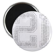 21, Grey, Vintage Magnet