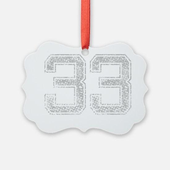 33, Grey, Vintage Ornament