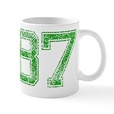 87, Green, Vintage Mug