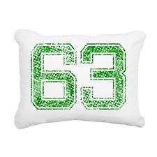 63, Green, Vintage Rectangular Canvas Pillow