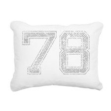 78, Grey, Vintage Rectangular Canvas Pillow