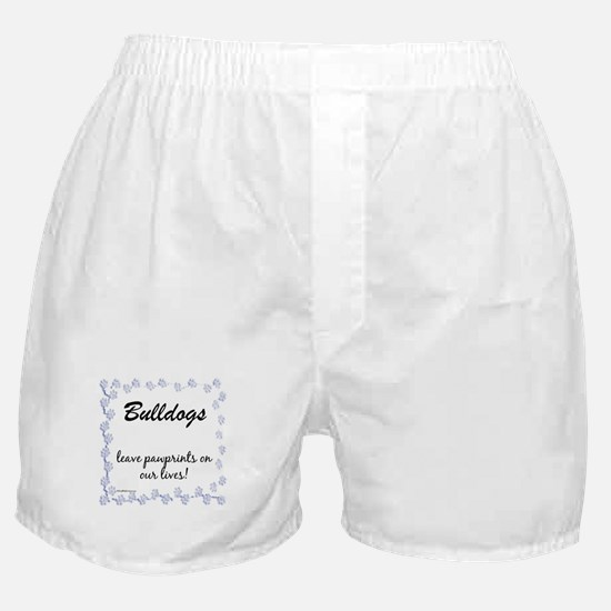 Bulldog Pawprints Boxer Shorts
