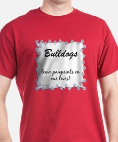 Bulldog Pawprints T-Shirt