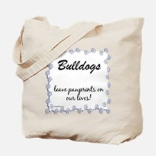 Bulldog Pawprints Tote Bag