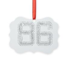 86, Grey, Vintage Ornament