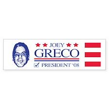 Greco in 08 Bumper Bumper Sticker
