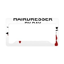 Hairdresser Zombie License Plate Holder