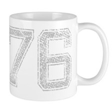 76, Grey, Vintage Mug
