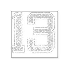 "13, Grey, Vintage Square Sticker 3"" x 3"""