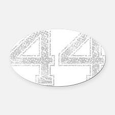 44, Grey, Vintage Oval Car Magnet