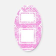 8, Pink Oval Car Magnet