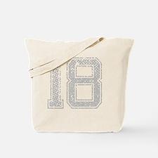 18, Grey, Vintage Tote Bag