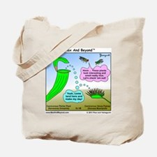 Venus Flytrap and Pitcher Plant Cartoon Tote Bag