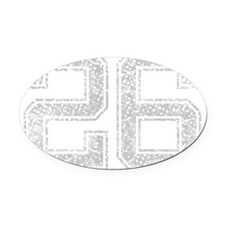 26, Grey, Vintage Oval Car Magnet