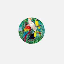 Tropical Birds 29x27 Mini Button