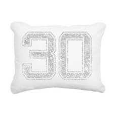 30, Grey, Vintage Rectangular Canvas Pillow