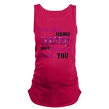 Welcome Home Daddy Maternity Tank Top
