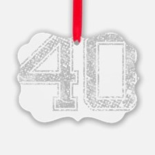 40, Grey, Vintage Ornament