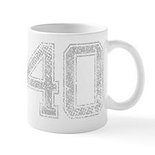 40, Grey, Vintage Mug