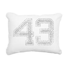 43, Grey, Vintage Rectangular Canvas Pillow
