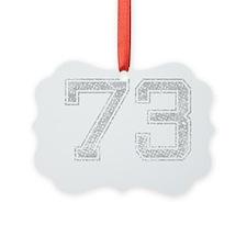 73, Grey, Vintage Ornament