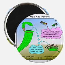 Venus Flytrap and Pitcher Plant Cartoon Magnet