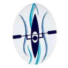 Current Kayak Oval Ornament