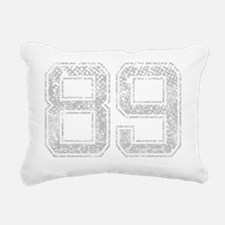 89, Grey, Vintage Rectangular Canvas Pillow