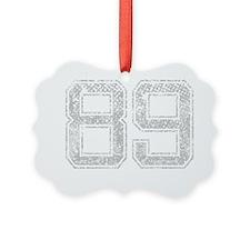 89, Grey, Vintage Ornament