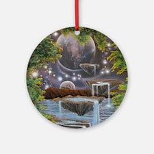 Cosmic Landscape Round Ornament
