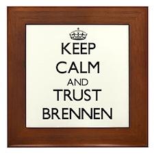 Keep Calm and TRUST Brennen Framed Tile