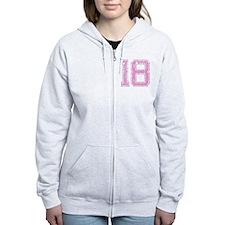 18, Pink Zip Hoodie