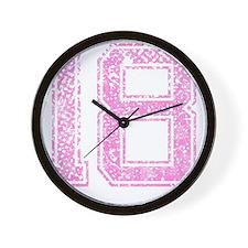 18, Pink Wall Clock